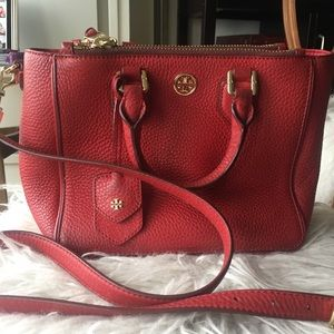 Tory Burch Red Robinson Tote